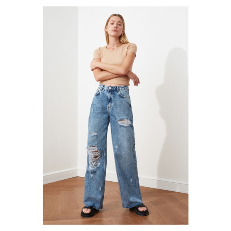 Trendyol High Waist Wide Leg Jeans