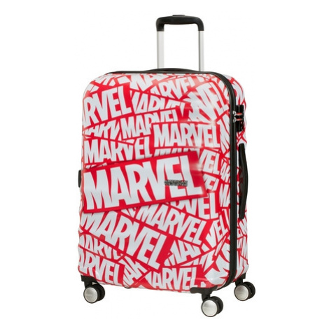 AT Dětský kufr Wavebreaker Disney Spinner 67/26 Marvel Logo, 47 x 26 x 67 (85671/8363) American Tourister
