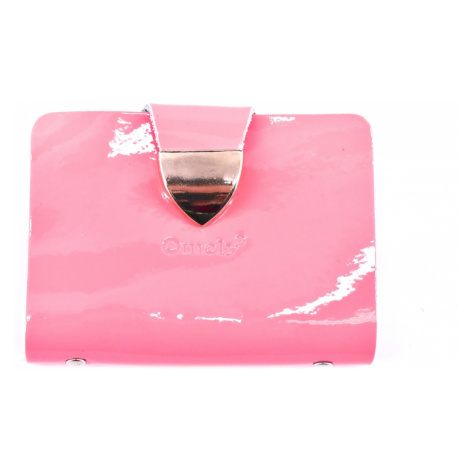 Dámská kožená dokladovka k uložení karet a dokladů Omely - světle růžová