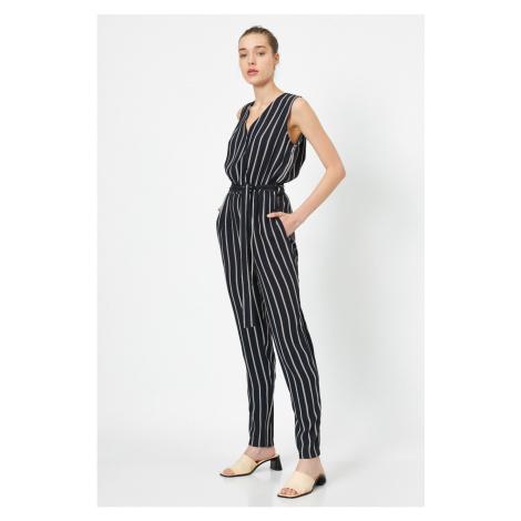 Koton Women's Black Striped Dress