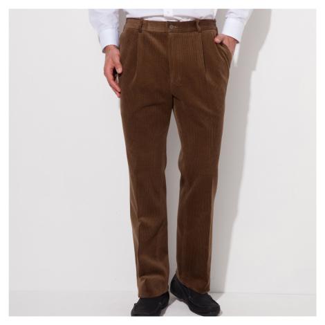 Blancheporte Manšestrové kalhoty, pružný pas kaštanová