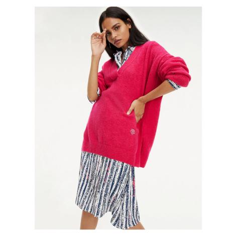 Tommy Hilfiger dámský růžový svetr Candace