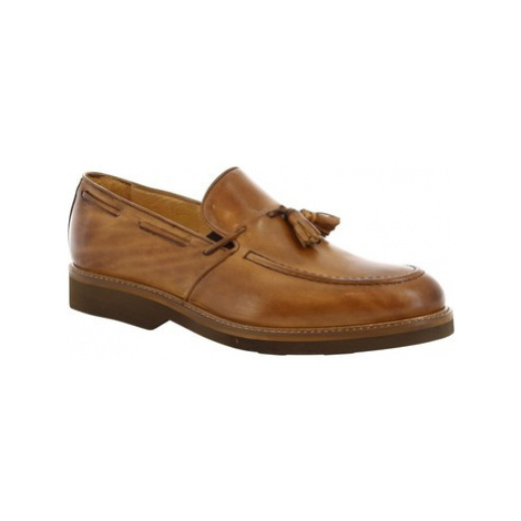 Leonardo Shoes 07013 FULL TAN Hnědá