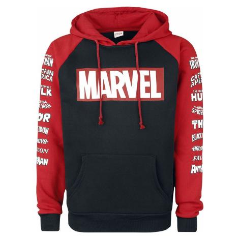 Marvel Logos mikina s kapucí cerná/cervená