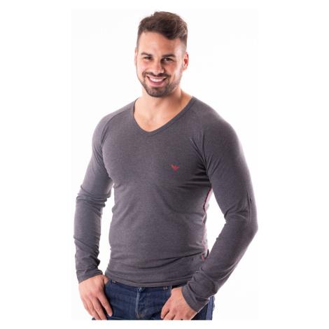 Pánské tričko Emporio Armani 111742 8A523 Tm. šedá
