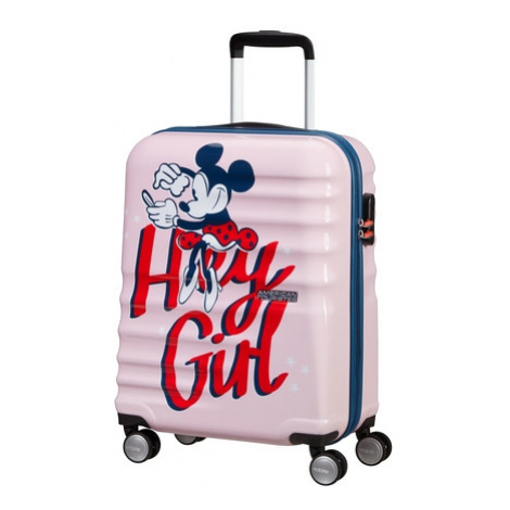AT Dětský kufr Wavebreaker Disney Spinner 55/20 Cabin Minnie Darling Pink, 40 x 20 x 55 (85667/8 American Tourister