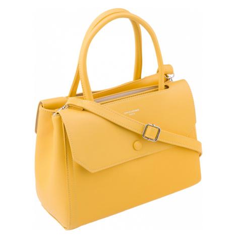 Středně velká kabelka typu kufřík taška z ekologické kůže David Jones