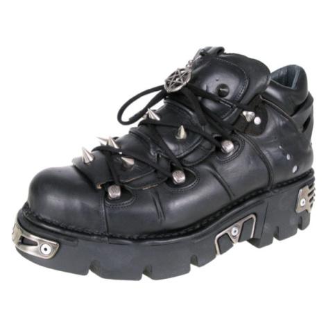 NEW ROCK Prick Shoes (110-S1) Black Černá