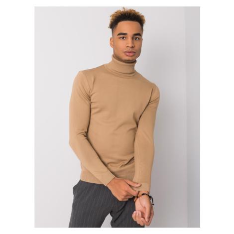 Dark beige men´s LIWALI turtleneck sweater