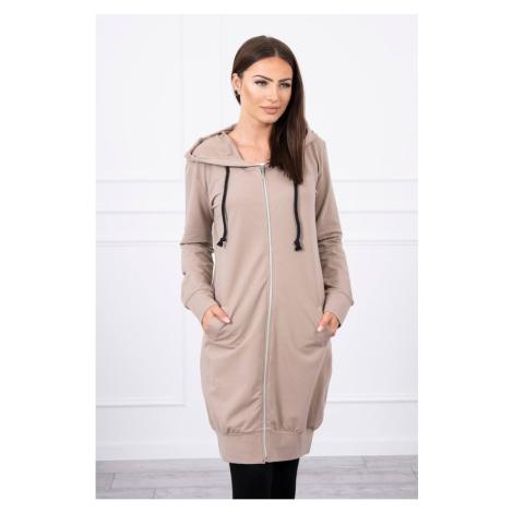 Hooded dress with a hood dark beige Kesi