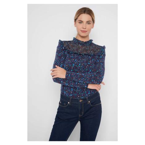 Přiléhavé tričko s květy Orsay