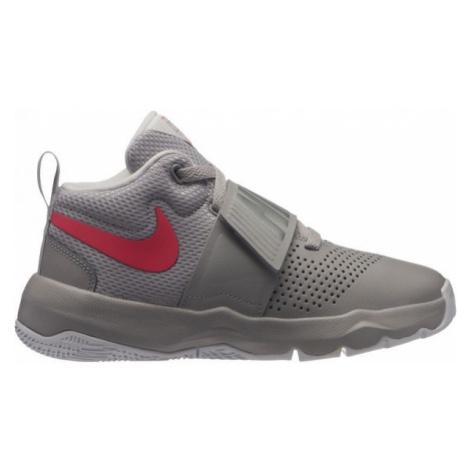 Nike TEAM HUSTLE D8 GS šedá 7Y - Dětská basketbalová obuv