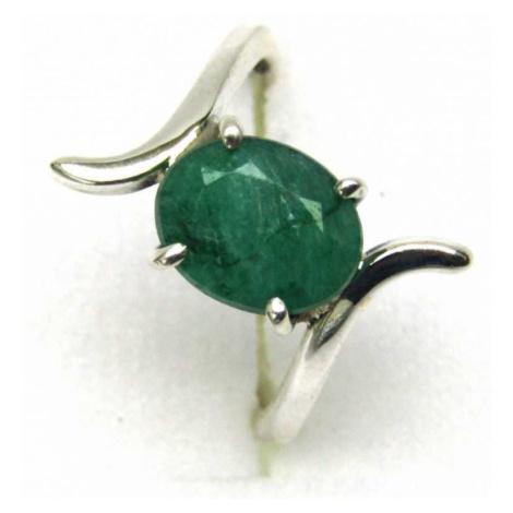 AutorskeSperky.com - Stříbrný prsten se smaragdem - S4690