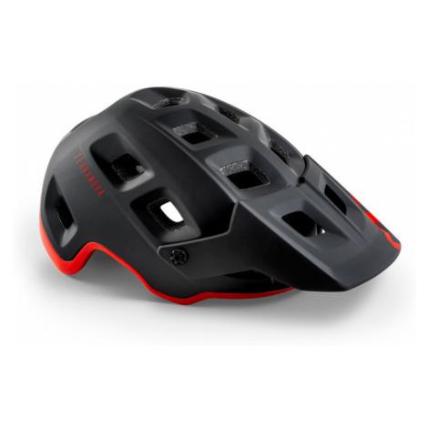 Cyklistická helma MET Terranova černá/červená matná/lesklá