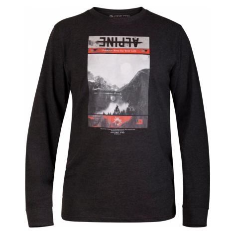 ALPINE PRO NASIR 2 Pánské triko s dlouhým rukávem MTSM304990 černá