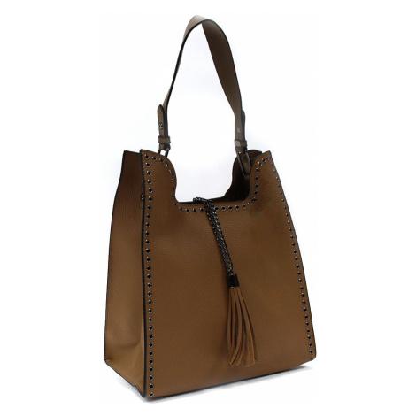 Hnědý dámský kabelkový set 2v1 Karoline Mahel