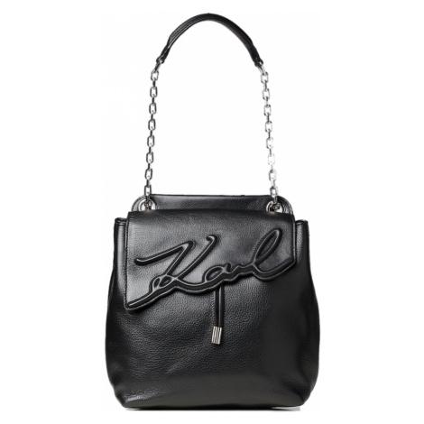 Černý kožený batoh / crossbody kabelka - KARL LAGERFELD