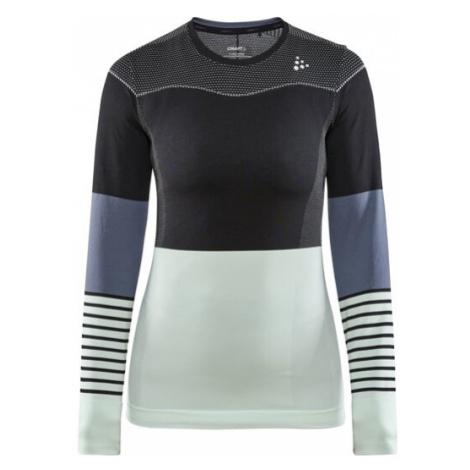 Dámské tričko CRAFT Fuseknit Comfort B černá/zelená