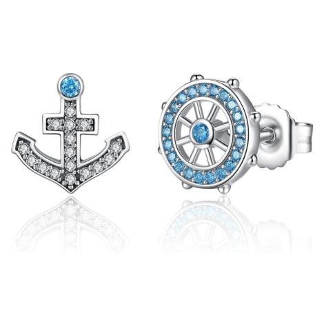 Linda's Jewelry Stříbrné náušnice pecky Sailor IN093