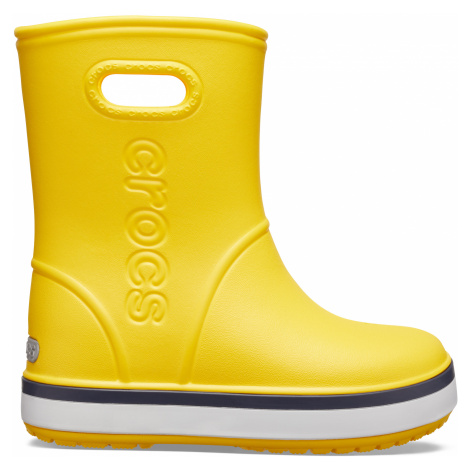 Crocs Crocband Rain Boot K Yellow/Navy J3