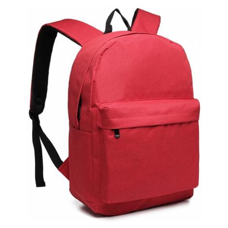 Červený praktický studentský batoh Aksah Lulu Bags