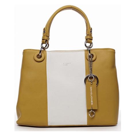 David Jones Dámská kabelka do ruky žlutá - Valentina Žlutá