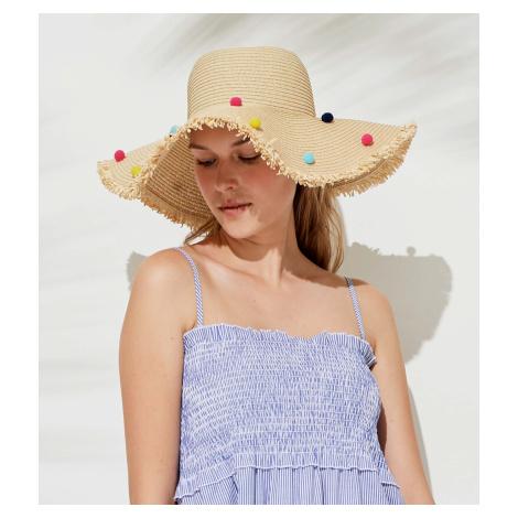 Slaměný plážový klobouk TR486 - Noidinotte uni