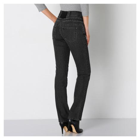 Blancheporte Rovné džíny s vysokým pasem černá