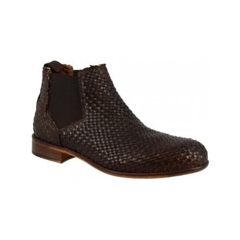 Leonardo Shoes D414_5 PE VITELLO MORO Hnědá