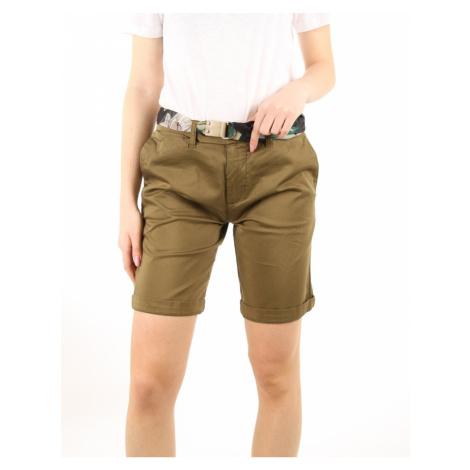 Guess dámské zelené šortky s páskem