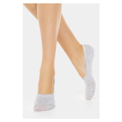 Dámské bavlněné slip on ponožky šedá Conte of Florence