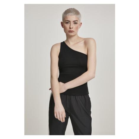 Ladies Asymmetric Top - black Urban Classics