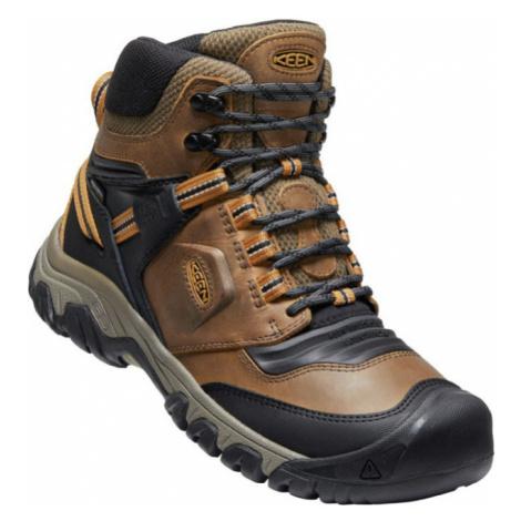 KEEN RIDGE FLEX MID WP Pánská treková obuv 10016507KEN01 bison/golden brown