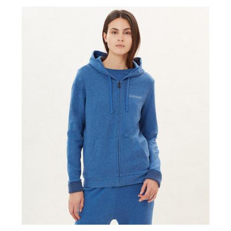 NAPAPIJRI dámská fleece královsky modrá mikina s kapucí
