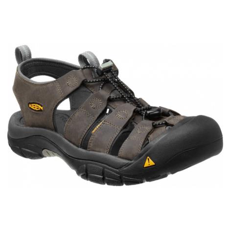 KEEN Newport M Pánské kožené sandály KEN1201000612 neutral gray/gargoyle