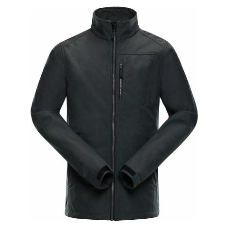 Pánská softshellová bunda Alpine Pro WEBAC - tmavě šedá