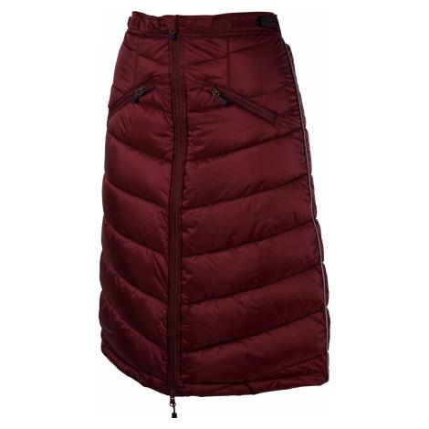 Zateplená sukně k bundě Nordic UHIP, dámská, zinfandel red