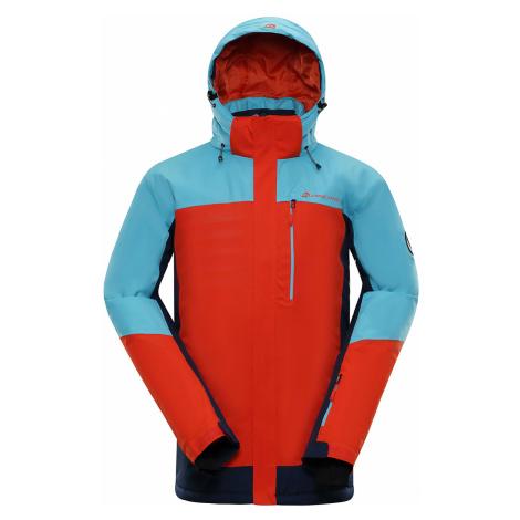 ALPINE PRO SARDAR 3 Pánská lyžařská bunda MJCP369344 cherry tomato