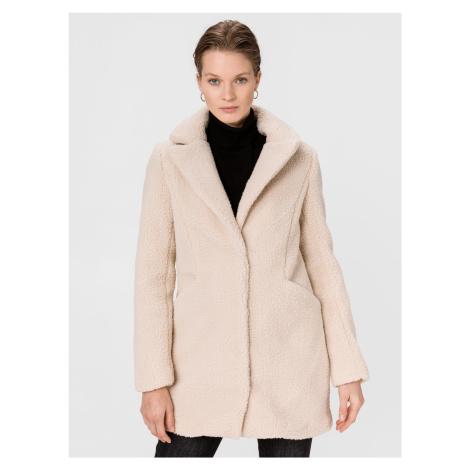 Donna Teddy 3/4 Kabát Vero Moda Béžová