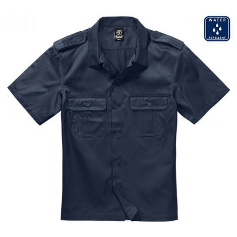 Short Sleeves US Shirt - navy Urban Classics