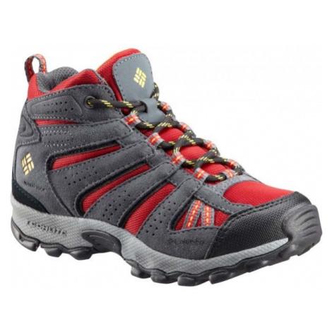 Columbia YOUTH NORTH PLAINS MID WP červená - Dětská zimní outdoorová obuv