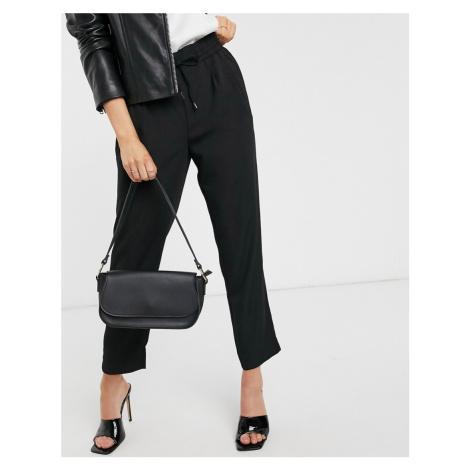 Vila tie waist trousers in black