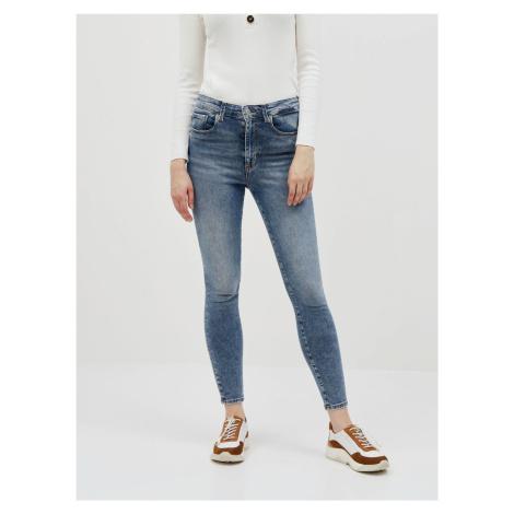 Modré skinny fit džíny VERO MODA Sophia