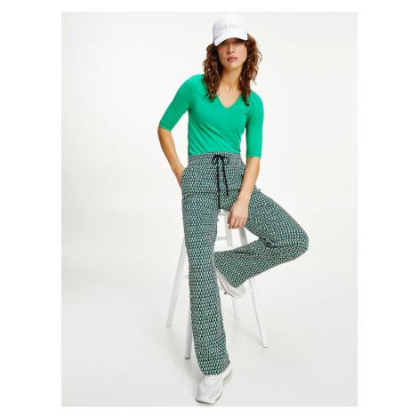 Tommy Hilfiger dámské zelené tričko