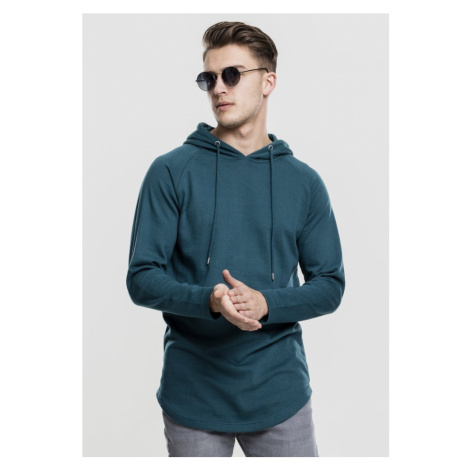 Long Shaped Terry Hoody - teal Urban Classics