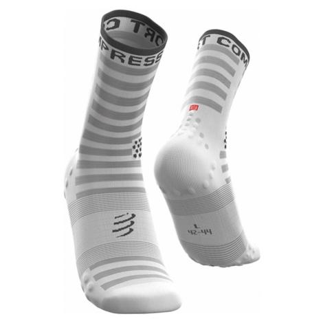 Ponožky Compressport PRORACING SOCKS V3.0 bílá|šedá