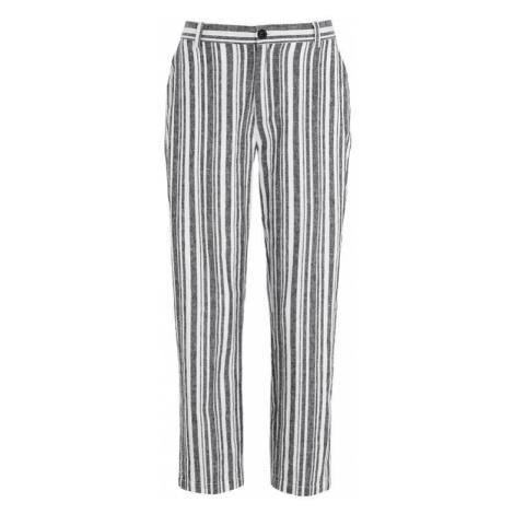 Proužkované lněné kalhoty Cellbes