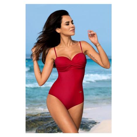 Červené jednodílné plavky Karen Gabbiano