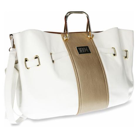 Bílá dámská kabelka s kovovými uchy Baťa