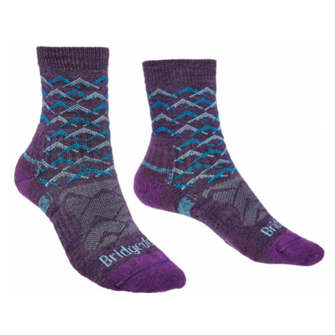 Ponožky Bridgedale Hike Lightweight Ankle Merino Performance Women's purple/aqua/125